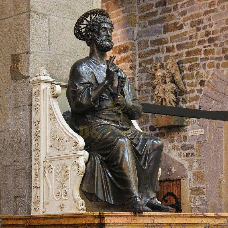 Famous religious sculpture Saint Peter statue church decoration for sale
