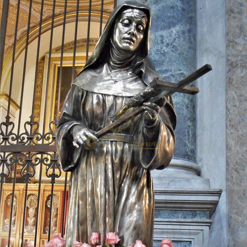 Western religious sculpture high quality statue of Saint Rita da Cascia