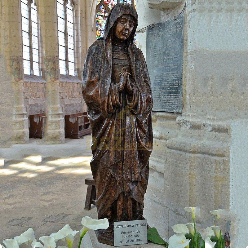 Church decoration life-size religious sculpture bronze Statue de la Vierge for sale