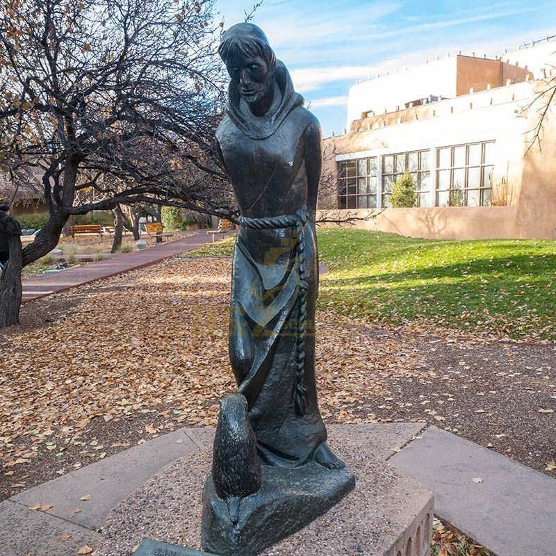 Outdoor exquisite statues of Saint Francis and Animal Garden for sale