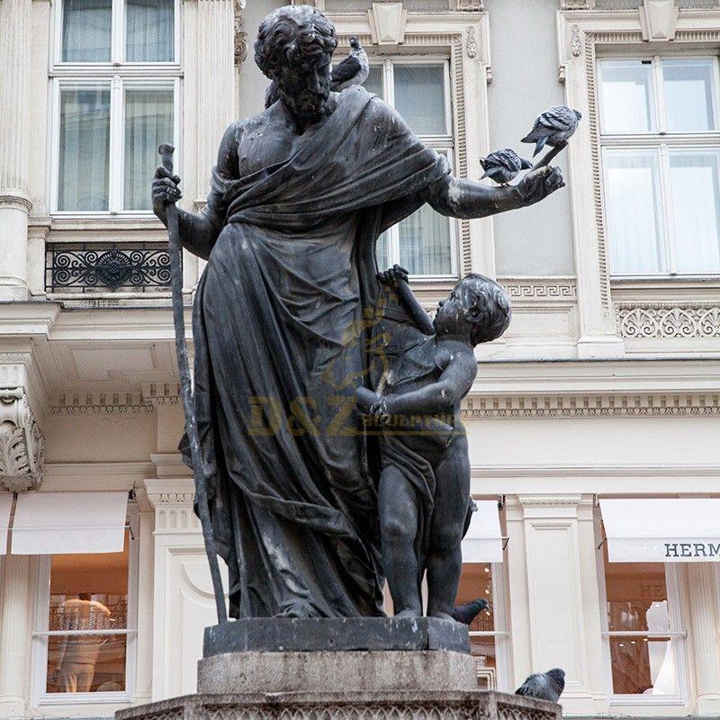 Bronze Saint Columbidae statue of the patron saint of pigeons for sale