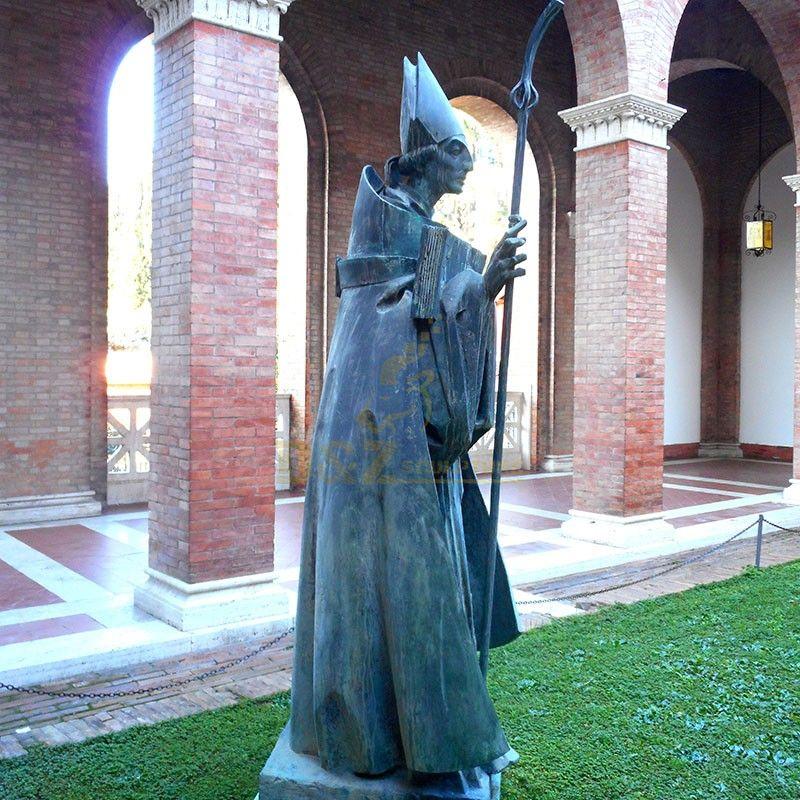 Western religious sculpture high quality saint anselm statue decoration