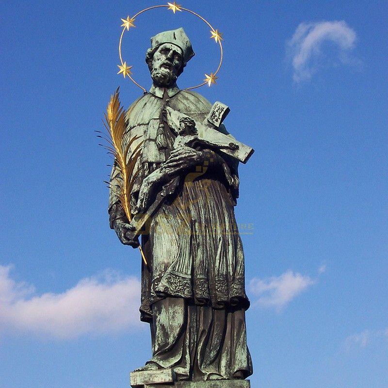 Outdoor saint statue high quality Saint John Nepomuk statue for sale