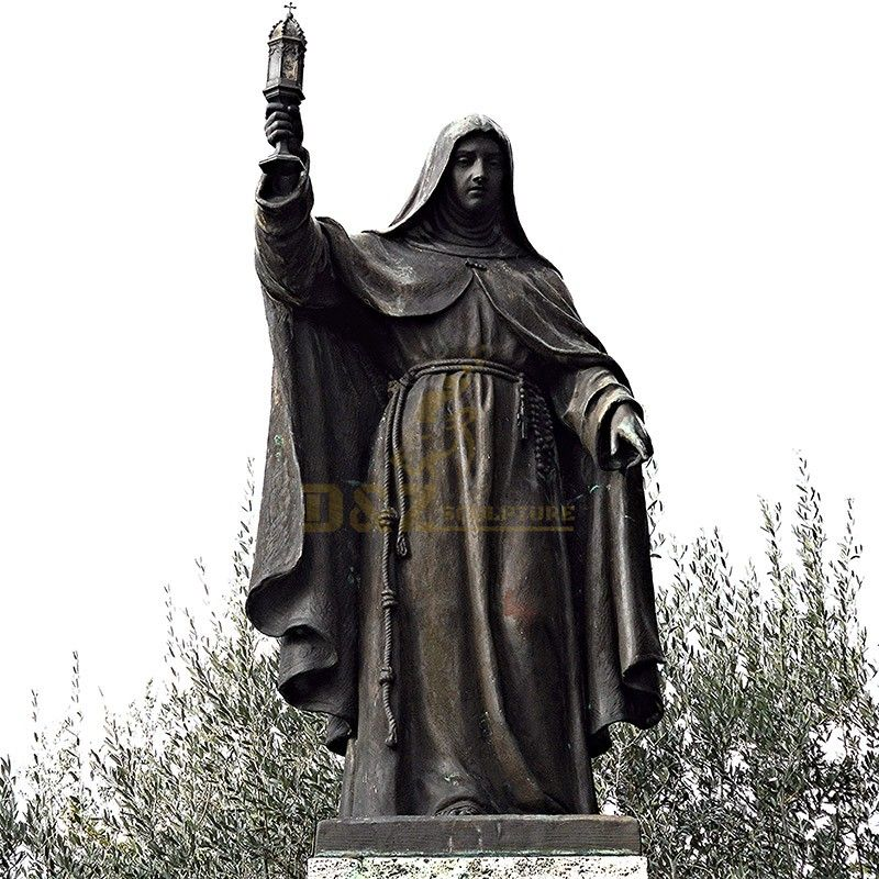 New design high quality famous saint Clara statue for sale