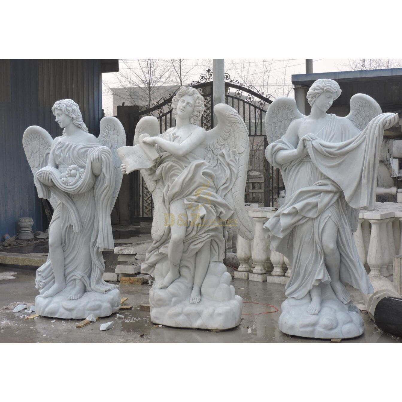 Angel Heart Shaped Granite Tombstone For Monument