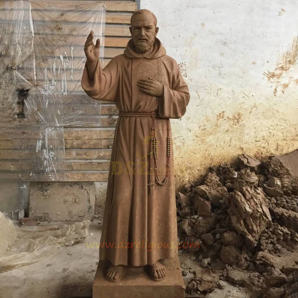 New Products This Week Bronze ST Padre Pio Statues For Sale