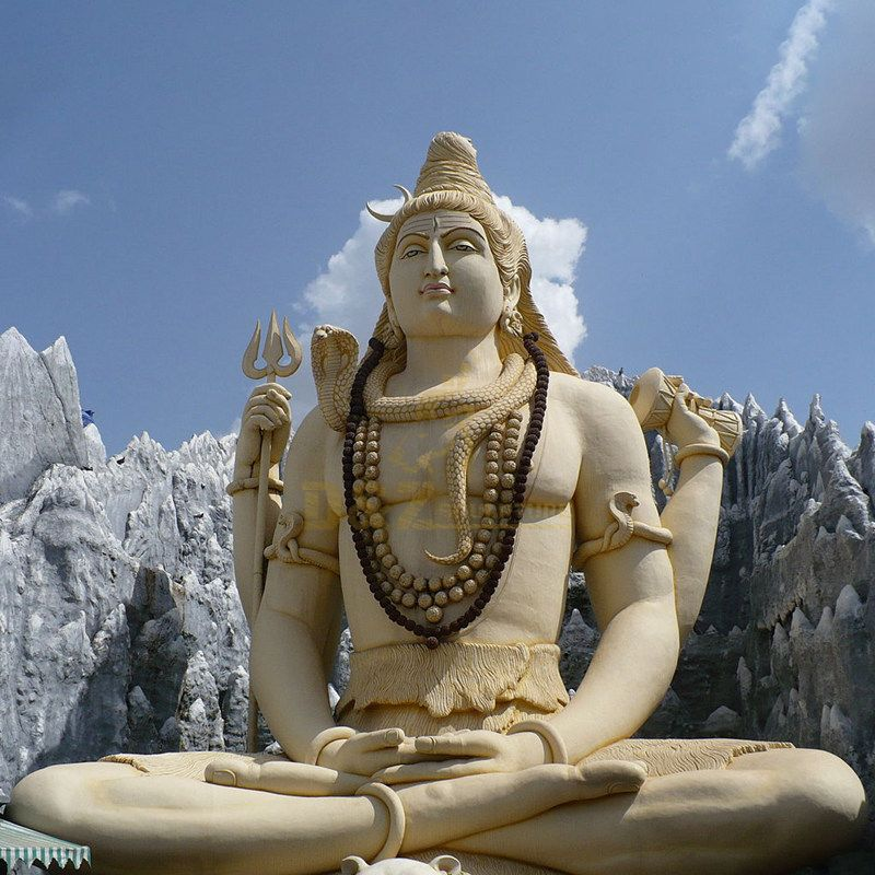 Outdoor India Religious Famous Hindu God Large Marble Shiva Statue