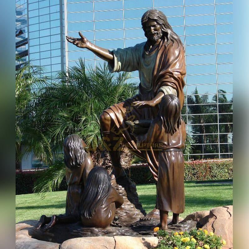 jesus with child statue