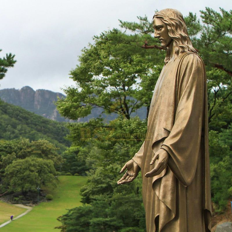 brass Jesus statue