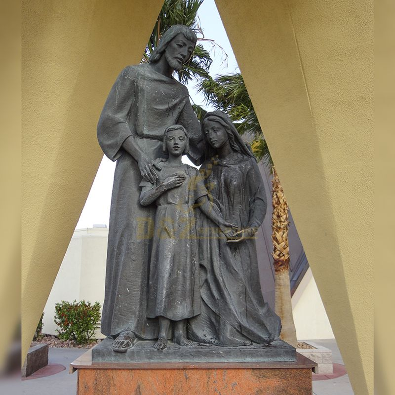 Life Size Garden Catholic Religious Bronze Mother Mary Statues Christian mother mary with jesus statue