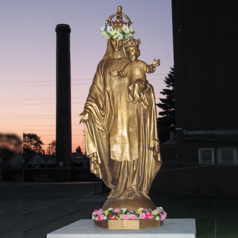 Virgin Mary Statues And Baby Jesus Statue