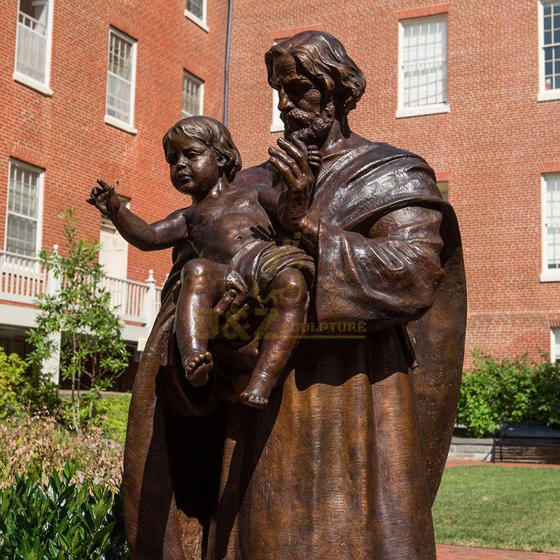 statue of joseph and jesus